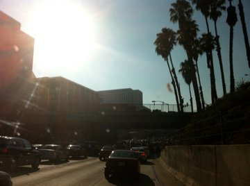 101 traffic coming into downtown LA