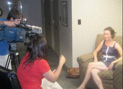 Shauna with Jenn Jarvis and KWWL crew