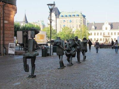 Sculpture in Malmo mall area
