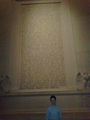 Daniel in Licoln Memorial