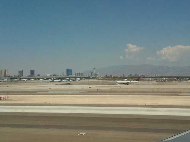 The Vegas strip from very far away