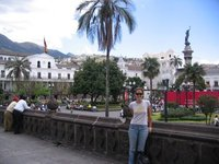 Laura in the Plaza de la Independencia