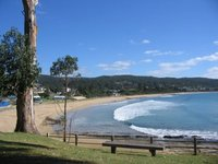 Lorne beach and bay