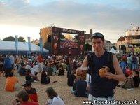 Fan Zone, Euro2008, Vienna with Bratwurst
