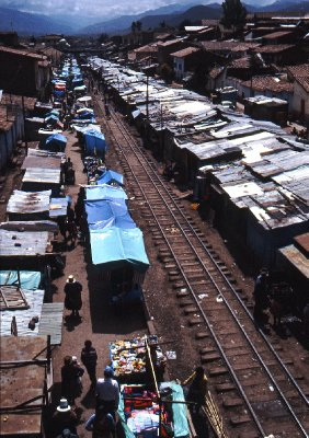 Market near San Pedro railway station, Cuzco