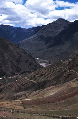 View of the scenery near Pisaq and the Sacred Valley