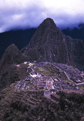 Standard view of Machu Picchu