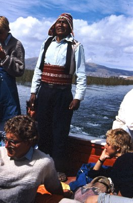 Heading out on Lake Titicaca