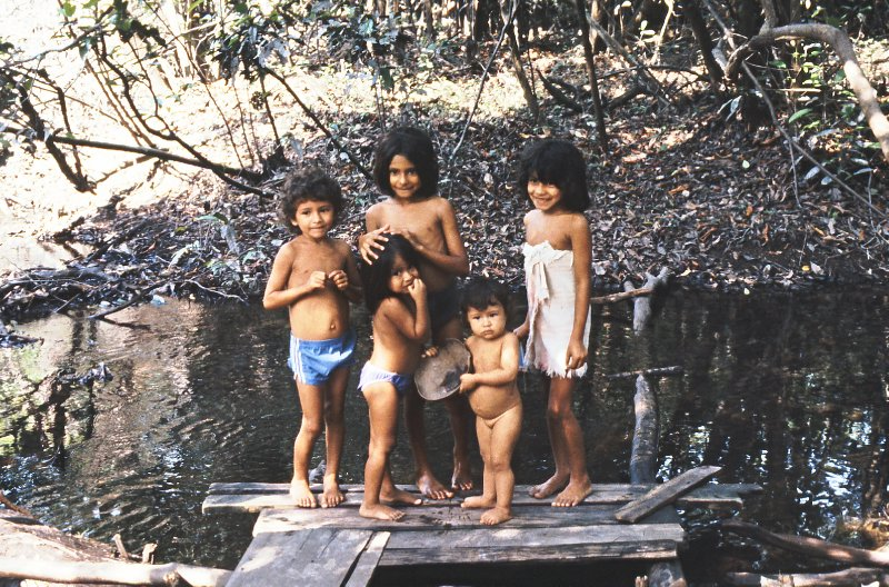 Children in the Amazon jungle
