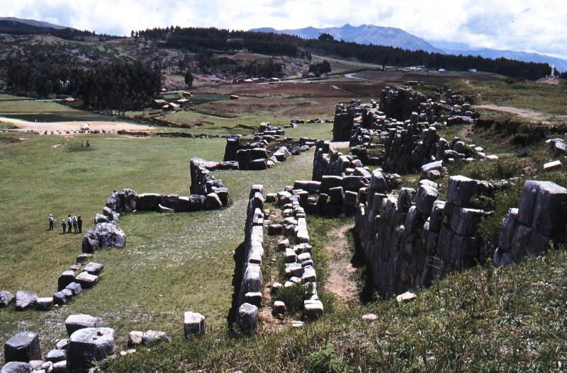 View of the grounds of Saqsayhuaman fortress, Cuzco