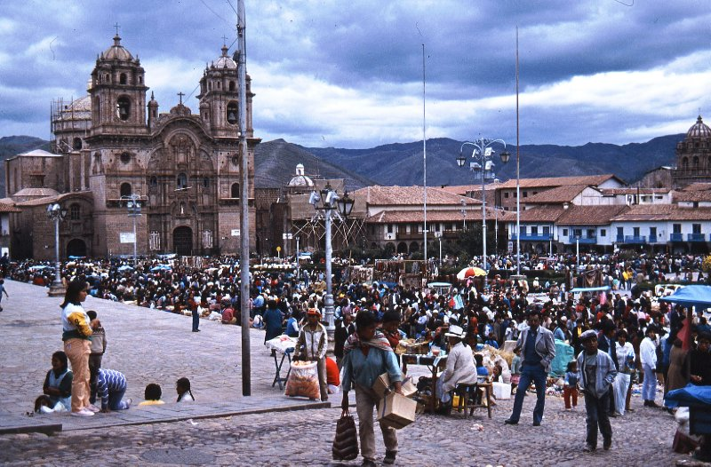 Christmas Eve in Plaza de Armas, Cuzco