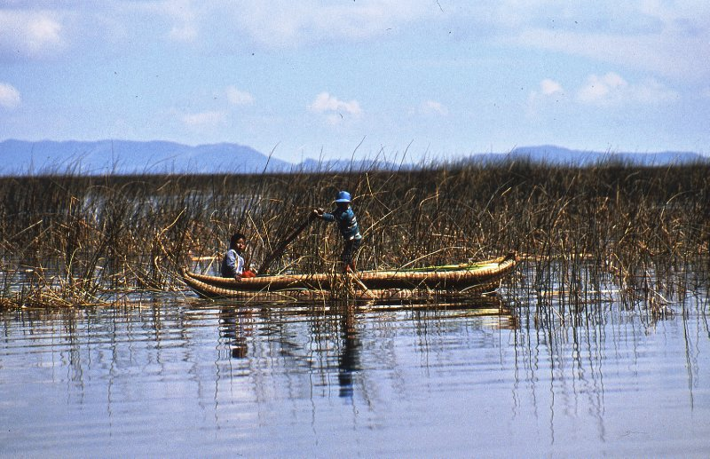 Reed boat in Los Uros