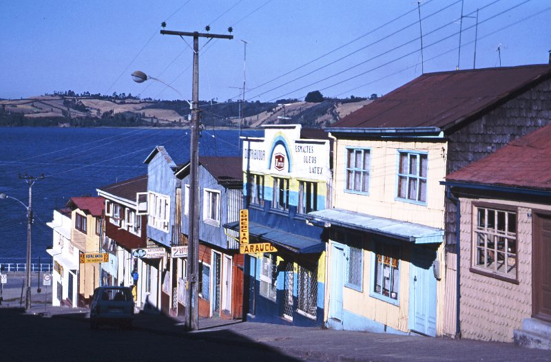 Castro street, Island of Chiloe