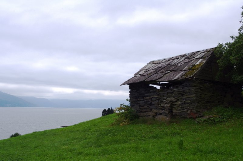 Old building by the Hardangerfjord