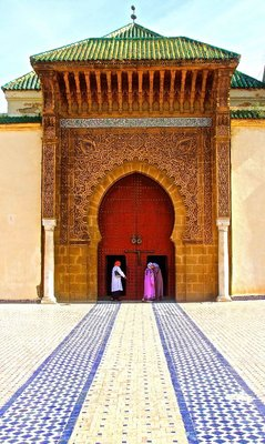 Royal palace entrance