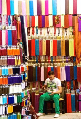 Colourful merchant shop