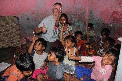 Kindergarten kids, Delhi slum