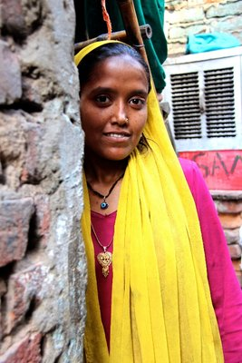 Girl, Delhi slum