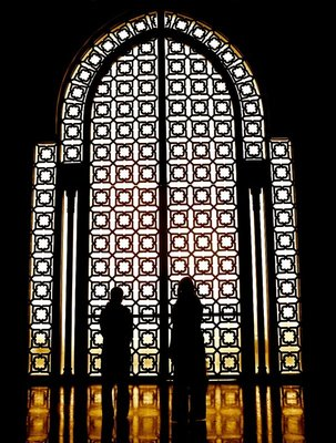 Silhouette, Hassan II mosque