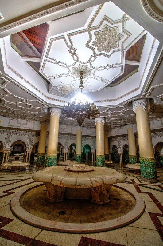 Hammam, Hassan II Mosque