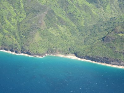 Hanakapi'ai Beach from the Air
