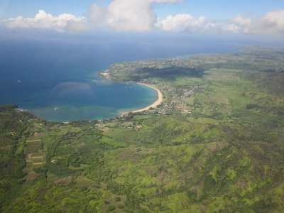Hanalei and Princeville from the Air