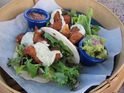 Lunch at the Hanalei Dolphin - shrimp tacos!