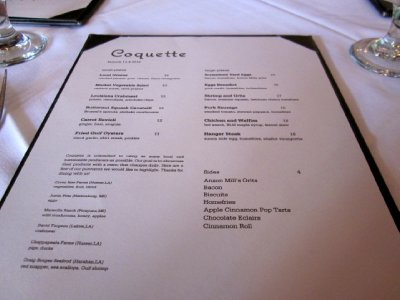 Brunch at Coquette