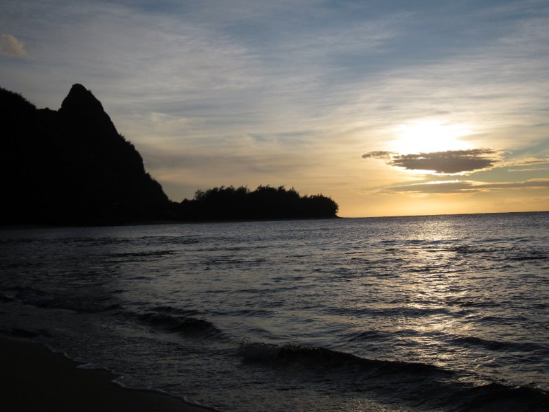 Bali Hai Sunset from Tunnels Beach