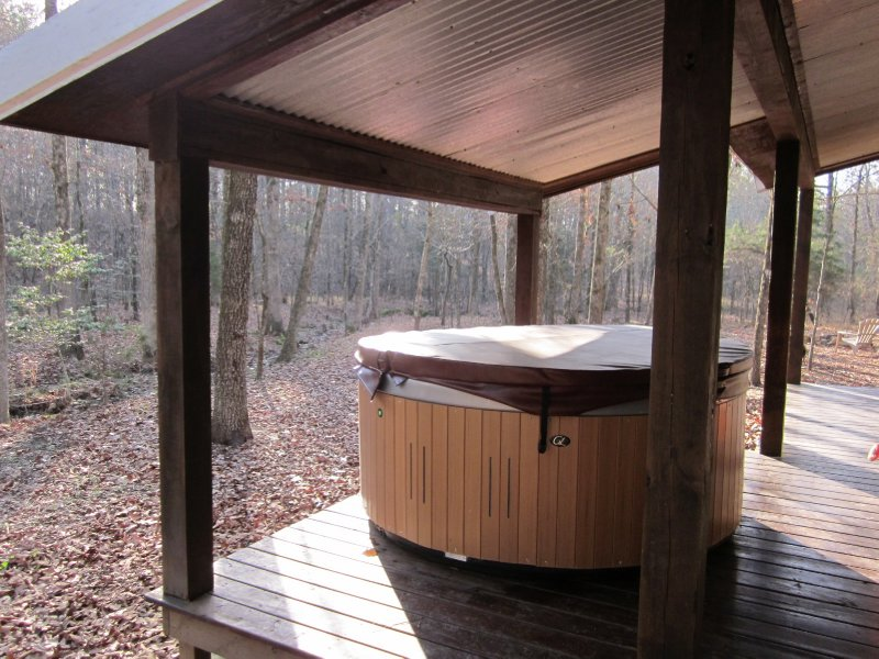 The hot tub - we definitely made use of it during our short stay