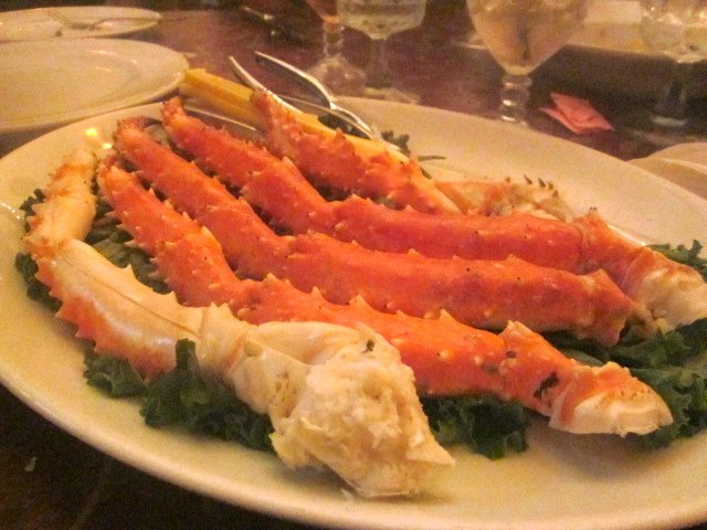 Crab legs at Boar's Head