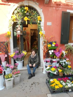 M at the flower shop