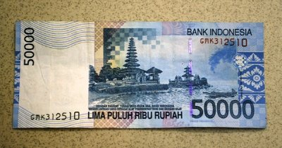 Indonesian rp banknote