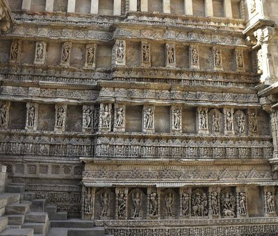 ancient stone carving in patan, gujarat, India