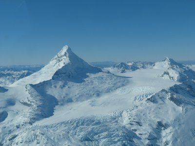 Mount Aspiring and it's glacier