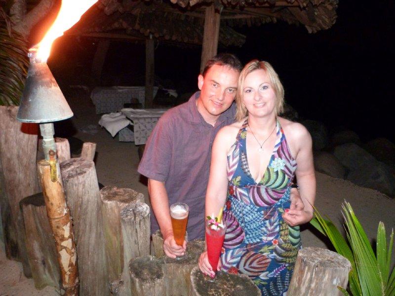 Last night... with my Fiji mama cocktail!