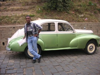 Green car in Tana, Lilian looking relaxed 2 days before baccalaureat