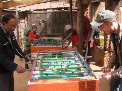 a game in a village