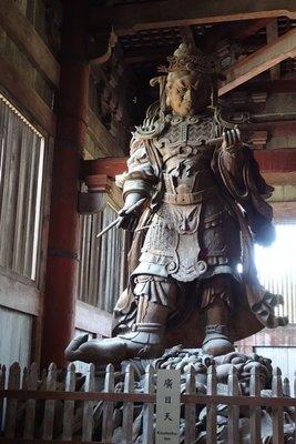 4-12r (22) Carved wood warrior