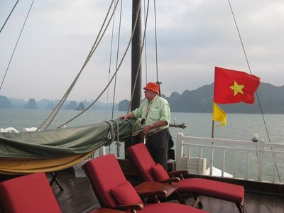 3-25.13 Deck of Junk on Ha Long Bay