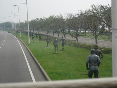 3-31. 14 Statues of runners