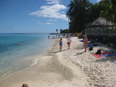 5-29 (6)  Beach at Huahine, FP