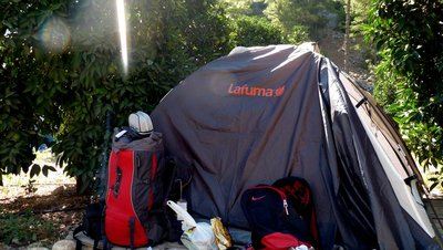 My tent in Olympos