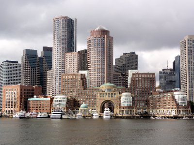 View of Boston from Harbour