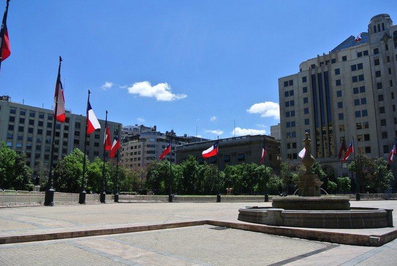 Flags at Plaza Constitucion