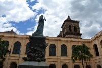 Manzana Jesuit thingy statue