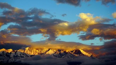 Pursuing My Dream Shangri-La With Passion: Sunrise Golden Mountains