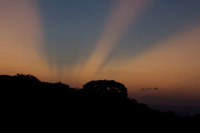 sunset on maokong