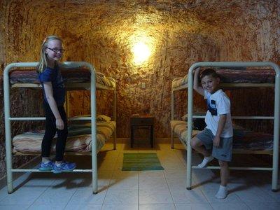 Tia and Finn at Underground Motel