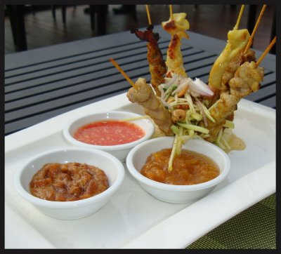 Thai Satay with fresh peanut sauce